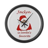 Jaclyn Christmas Large Wall Clock