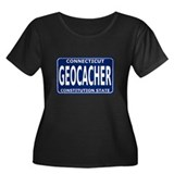 Geocacher Connecticut Women's Plus Size Scoop Neck