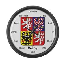 Czech Republic Czech Language Large Wall Clock
