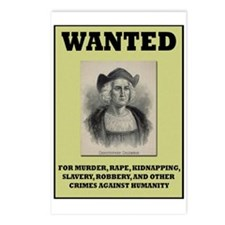 Columbus Wanted Poster Postcards (Package of 8)