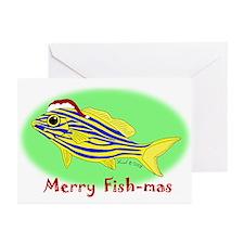 Merry Fishmas Greeting Cards (Pk of 20)