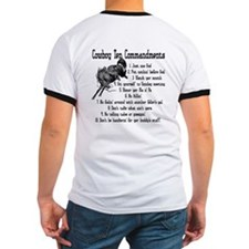 Cowboy Ten Commandments (back) T