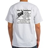 Cowboy Ten Commandments (back) T-Shirt