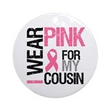 I Wear Pink (Cousin) Ornament (Round)