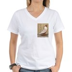 WOE Peach Laced Women's V-Neck T-Shirt