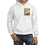 WOE Peach Laced Hooded Sweatshirt
