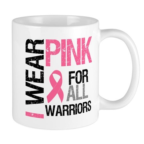 I Wear Pink Warriors Mug