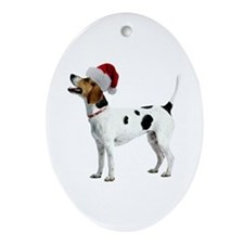 English Foxhound Christmas Oval Ornament