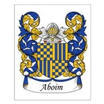 Aboim Family Crest Small Poster