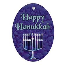 Happy Hanukkah Keepsake (Oval Ornament)
