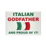 Proud Italian Godfather Rectangle Magnet