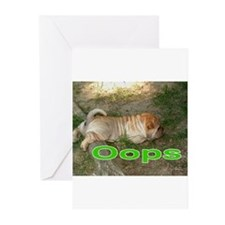 Oops Pei Greeting Cards (Pk of 20)