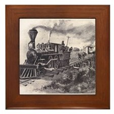 Cute Rail buff Framed Tile
