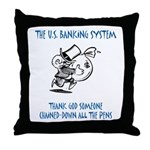 Banking System Throw Pillow