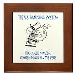 Banking System Framed Tile