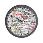 English Brainstorming Poster Wall Clock