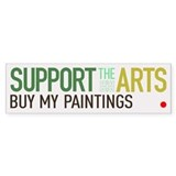 Support the Arts Artist's Bumper Bumper Sticker