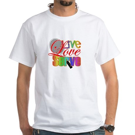 Live, Love, Serve White T-Shirt