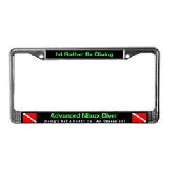 Advanced Nitrox Diver, License Plate Frame