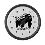 Gorilla Evolve Already Clock Large Wall Clock
