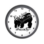 Gorilla Evolve Already Clock Wall Clock
