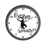 Monkey Chimp Evolve Already Clock Wall Clock