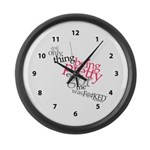 Being Pretty Clock Large Wall Clock