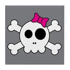 Cute Skully Tile Coaster