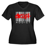 Drift Addict Women's Plus Size V-Neck Dark T-Shirt