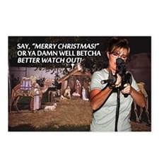 Sarah Palin War on Christmas Postcards (8 pk)