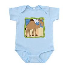 Wandering Camel with Green Border Infant Bodysuit