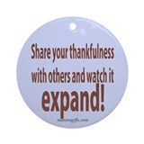 Thankfulness Ornament (Round)