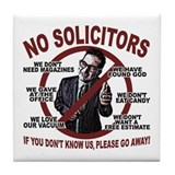 4.25&amp;quot; Unframed Ceramic - No Solicitors Sign