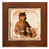 Briard TWITCH Framed Tile