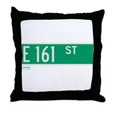 E 161st Street in The Bronx Throw Pillow