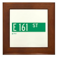 E 161st Street in The Bronx Framed Tile