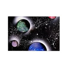 Outer Space Painting Rectangle Magnet