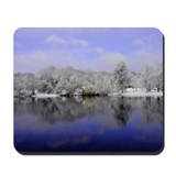Purple Winter Scene Mousepad