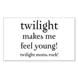 Twilight Moms Feel Young Rectangle Decal