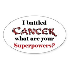 I Battled Cancer Oval Decal