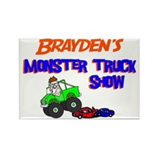 Brayden's Monster Truck Rectangle Magnet
