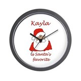 Kayla Christmas Wall Clock