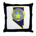 Nevada Highway Patrol Throw Pillow