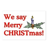 We say Merry CHRISTmas Postcards (Package of 8)