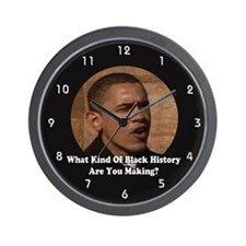 Funny Obama makes history Wall Clock