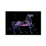Star Carousel Horse Rectangle Magnet (10 pack)