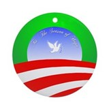 &amp;quot;Hope&amp;quot; Barack Obama Christmas Ornament