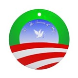 """Hope"" Barack Obama Christmas Ornament"