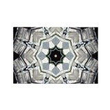 Black & White Mandala Rectangle Magnet (10 pack)