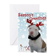 Pit bull Holiday Greeting Card